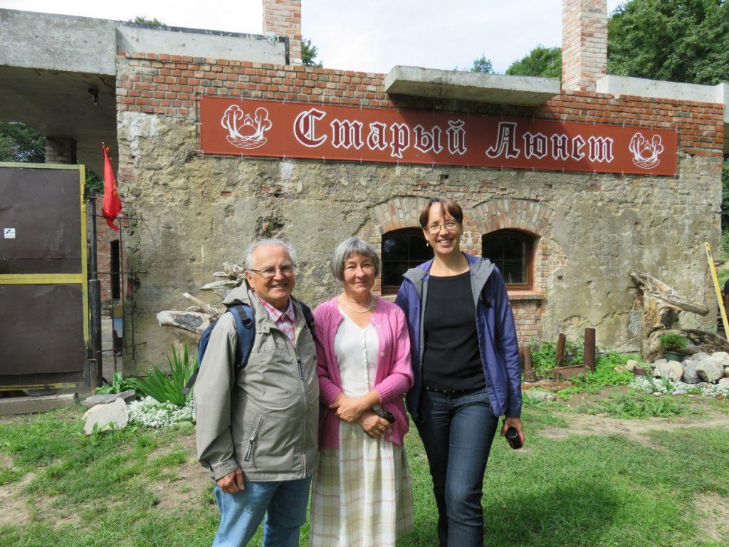 Gunter Wiese - жил здесь еще до войны и Галина Лажкова - переводчик, местный житель и любимый член нашей команды.